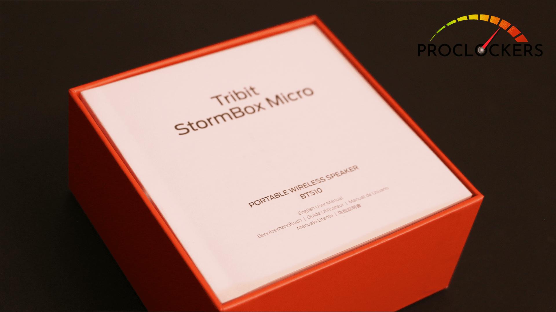 TRIBIT STORMBOX MICRO MANUAL